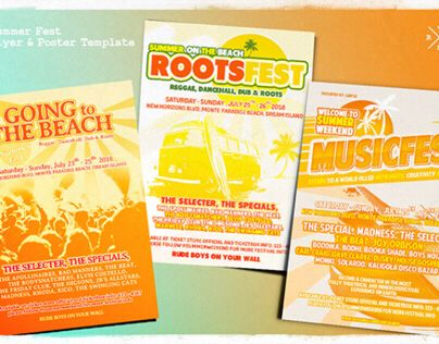 Summer Music Fest Flyer & Poster Template
