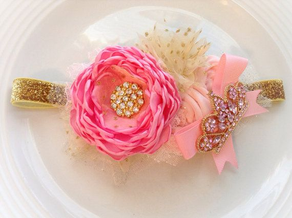 A royal princess headband by JensBowdaciousBows on Etsy, $22.95