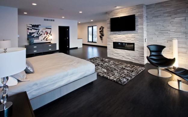 Lake Minnetonka Modern Master Bedroom