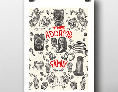 """Check out new work on my @Behance portfolio: """"The Addams family"""" http://be.net/gallery/44225927/The-Addams-family"""