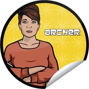"Archer S4E6 -""Once Bitten"" -02/21/13 #FXArcher S4E6, Archer Episode, Archer Nerdy, Archer Stickers, Dolls Archer"