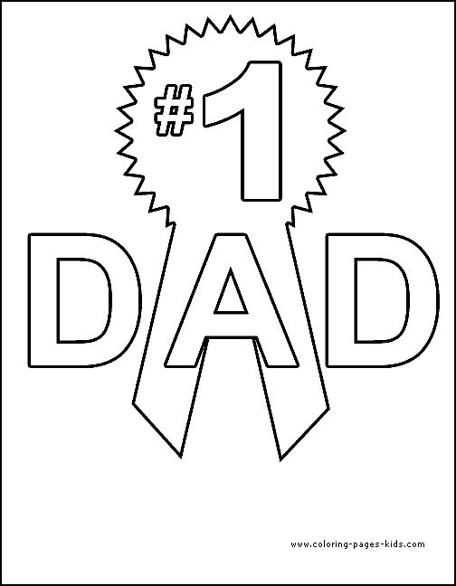Coloring Pages Fathers Day Page 09 Numbers