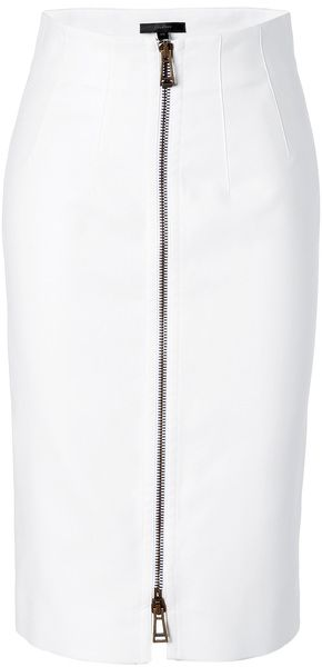 BELSTAFF White Cotton Harrow Pencil Skirt - Lyst