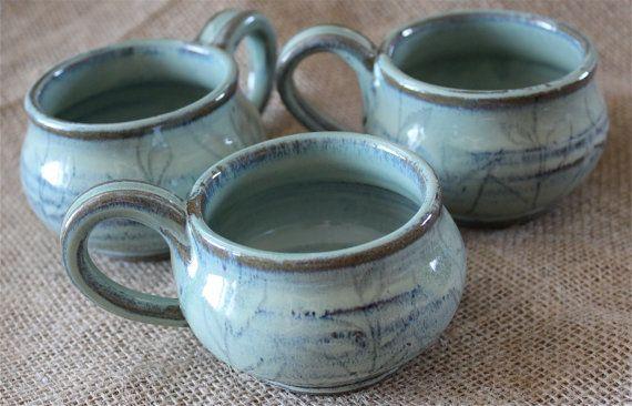 8 oz mug cappuccino mug tea cup wheel thrown pottery by AudPottery