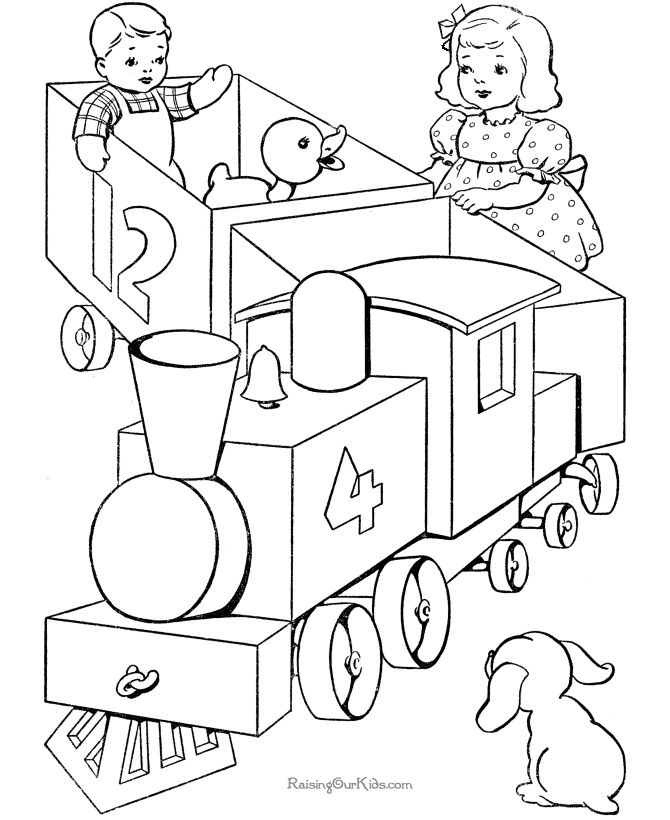 39 best images about train coloring sheets on pinterest for Toy train coloring pages