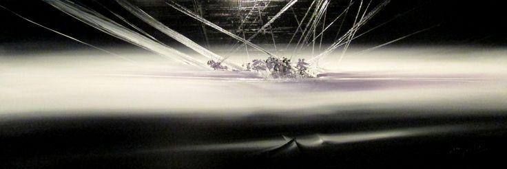 """""""Sotto l'orizzonte"""" cm 150X50X4,5 Tecnica: olio su tela"""