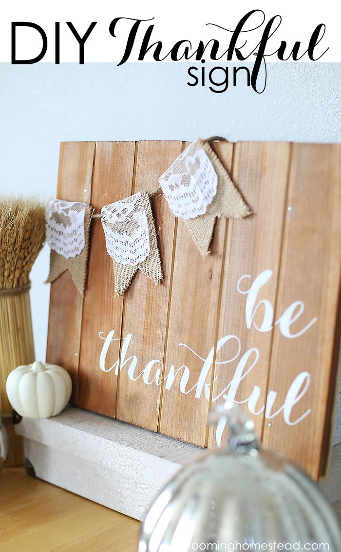 diy thankful sign real thanksgiving wood signs. Black Bedroom Furniture Sets. Home Design Ideas