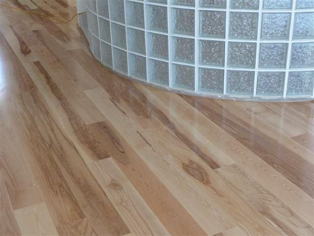 You can install floating timber floors around curved walls with ease.