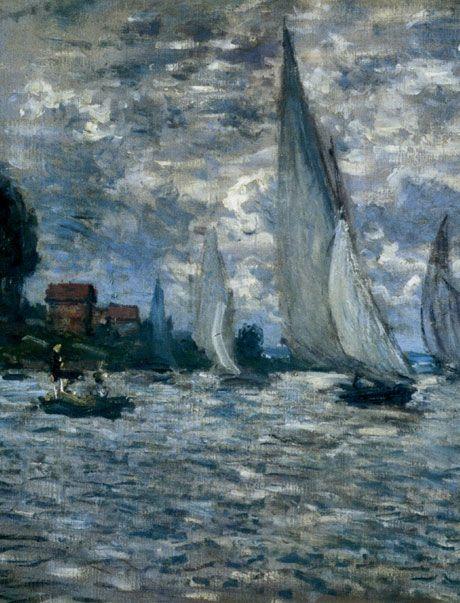 """""""The Boats"""" ~ Regatta at Argenteuil, Monet"""