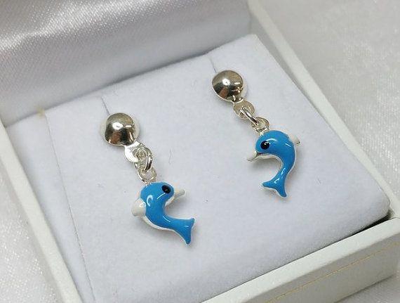 Kinder  Delphin Ohrstecker Ohrringe Silberohrringe von myduttel