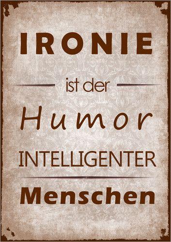 Poster Ironie