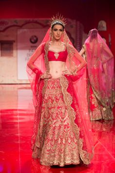 Indian wedding clothes by Suneet Varma 2014. Indian bridal wear. #shaadibazaar