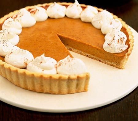 pumpkin pie & whipped cream | famous food pairings | Pinterest