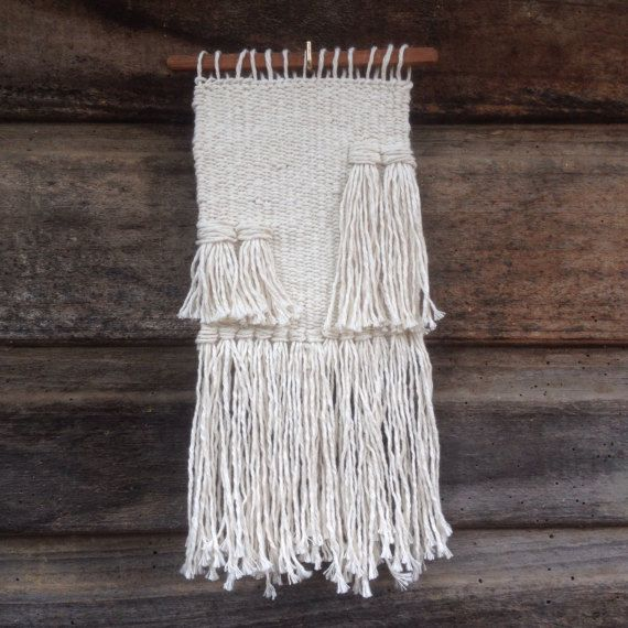 Woven wall hanging by handspunandweaving on Etsy