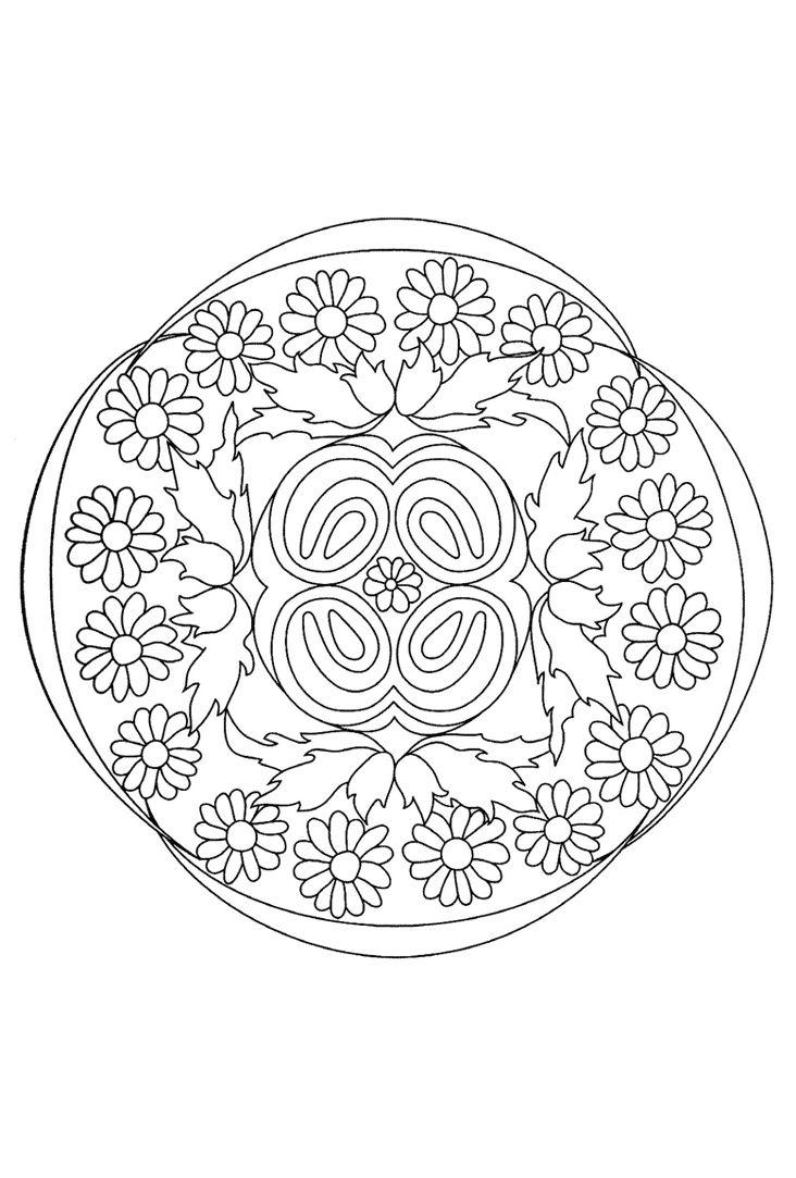 bloementuin mandala bloementuin mandala kleurplaten