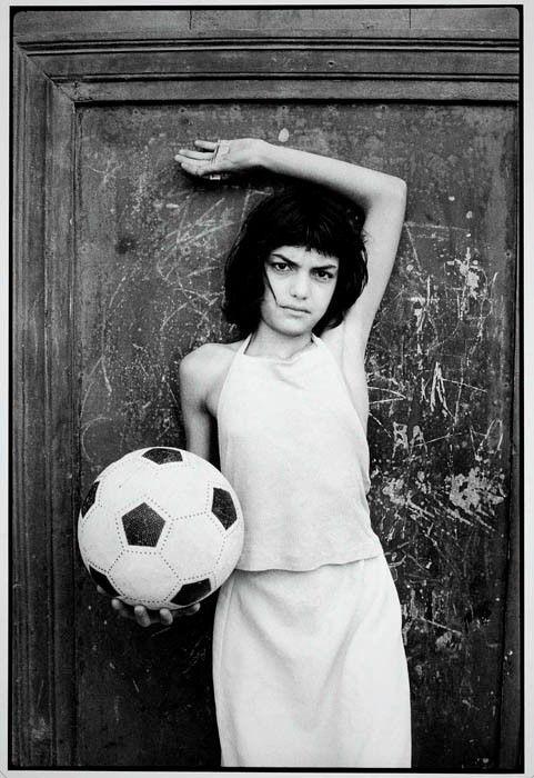 child with a ball, La cala neighborhood, Palermo, 1980