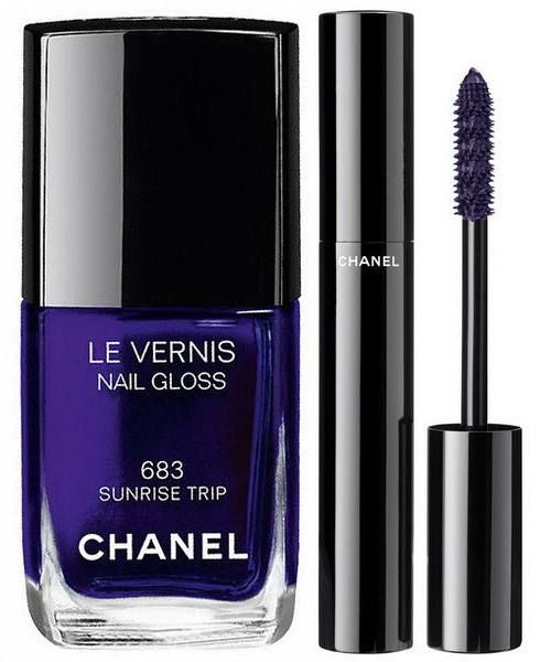 Chanel L.A. Sunrise Spring 2016 Collection | Chanel Le Vernis Nail Gloss 683 Sunrise Trip – dark purple,  Chanel Le Volume de Chanel - Ardent Purple – Purple (Limited Edition)