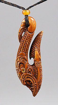Te Manaia • Fish Hook Pendant by David Taylor, Māori