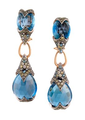 ZORAB- Blue Enchantment Pendant Earrings
