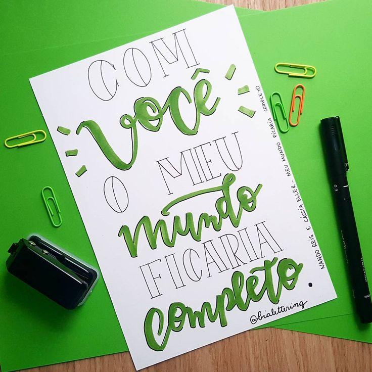 Lettering com música.    Arte 5.   Musica: O meu mundo ficaria completo - Cássia Eller e Nando Reis    #frases #lettering #moderncalligraphy #calligraphy #letteringalphabet #typography #design #designgrafico #music #loveletters #letter #unipin #bomdia #caligrafia #brushlettering #caligrafia #tipografia #artista #art #brasilian #artist #cassiaeller #nandoreis #monday #segundafeira #artedodia #evoluir #sonhar #acreditar #realizar