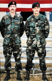 "Delta Gorce Operators Gary Gordon and Randy Shughart.  Died protecting ""Blackhawk Down"" pilot CWO Mike Durant in Battle of Mogadishu on October 3,1993.  True Heros."