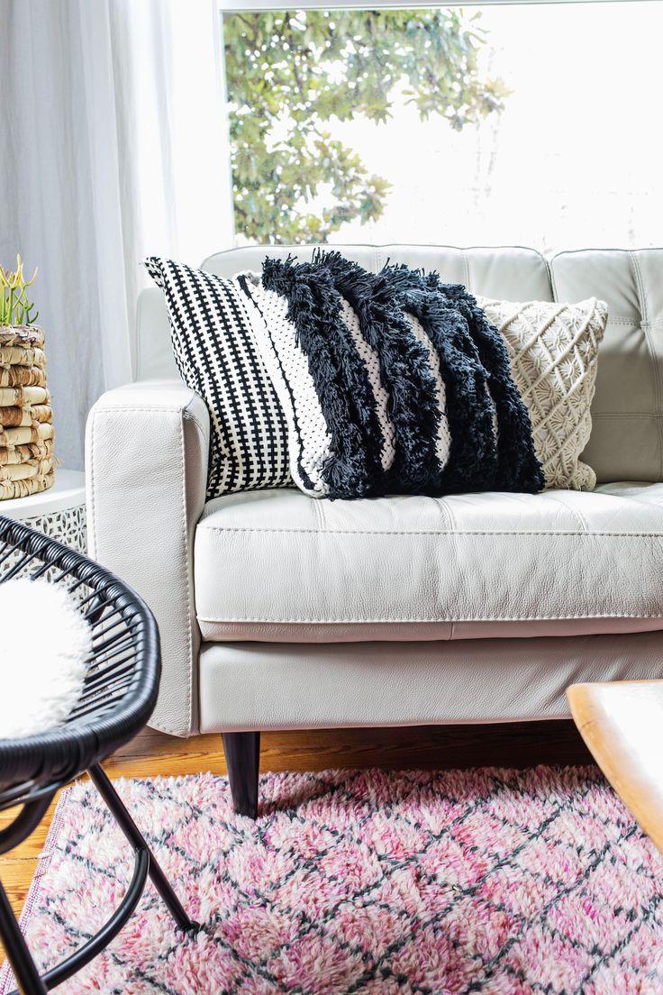 Textured Woven Pillow DIY
