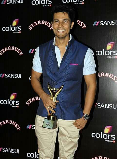 Randeep Hooda after winning Stardust best male actor for Highway