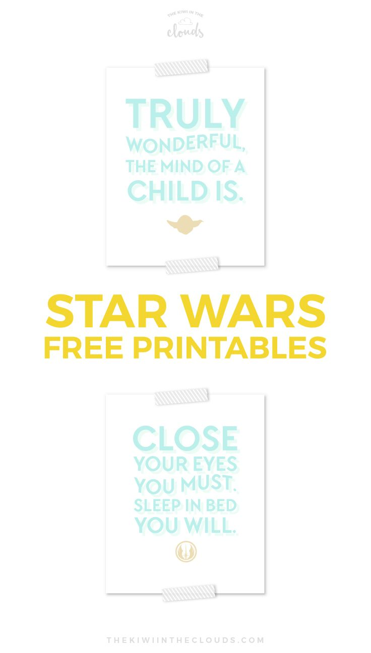 Finally, a modern twist on Star Wars art!! These free printables are perfect for a little baby's nursery or room.