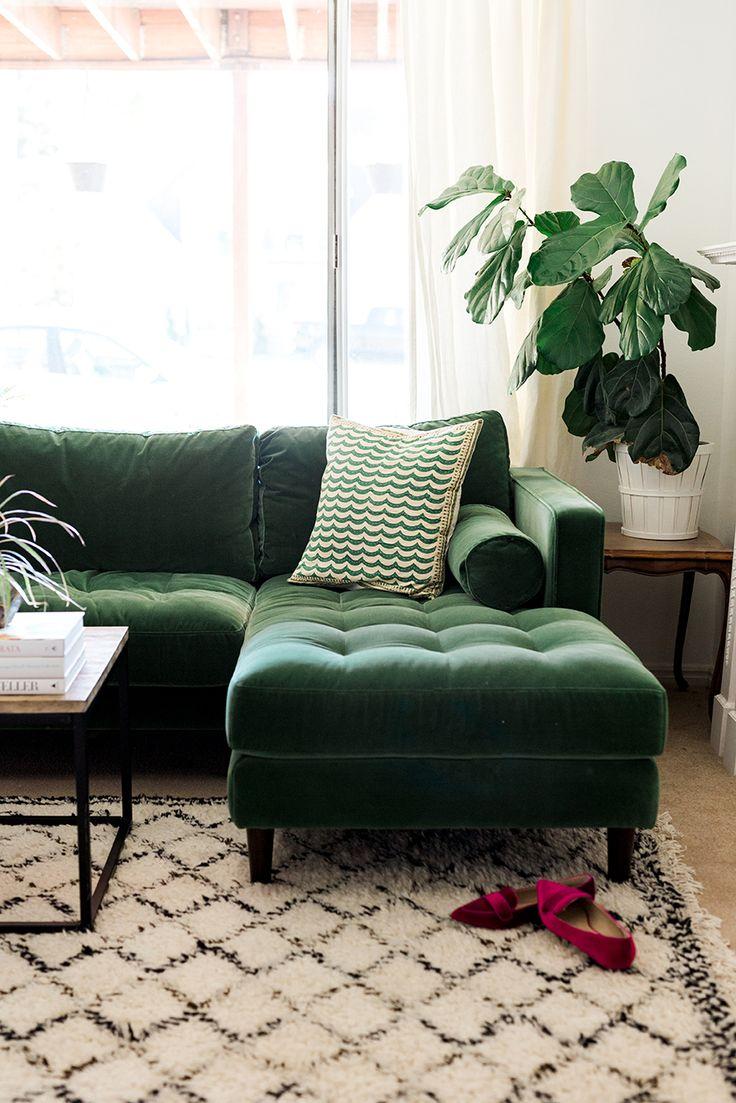 Mein neues grünes Sofa