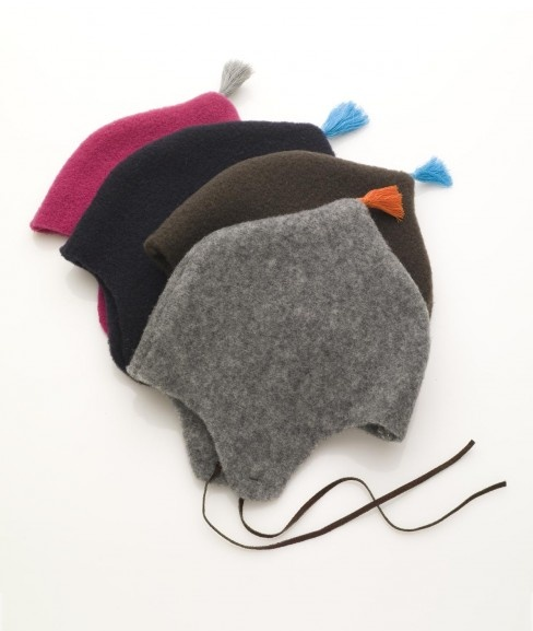 Great project for felted sweaters. Leather ties and a silk tassel make it special.