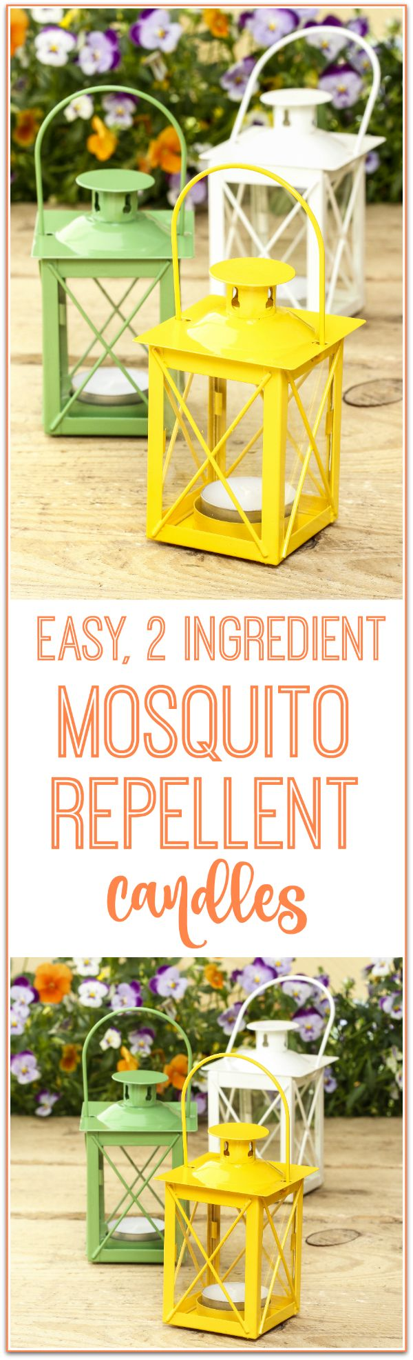 How to make easy mosquito repellent candles that repel mosquitoes, gnats and all other bugs - this is so simple and doable and all natural!!!