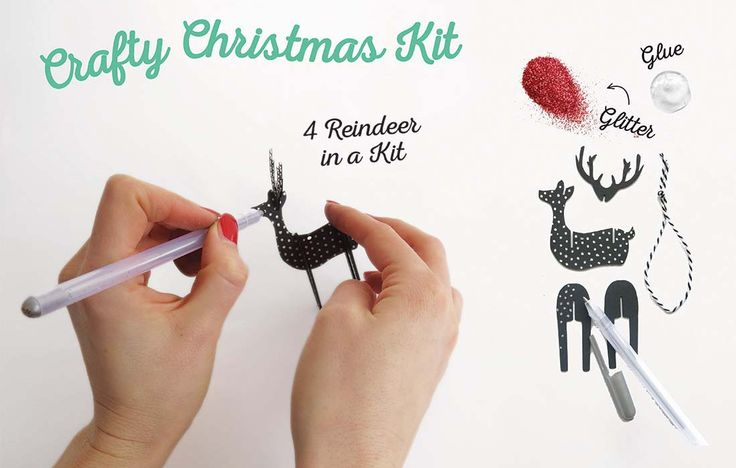 CRAFTY CHRISTMAS KIT. Get started assembling and decorating!