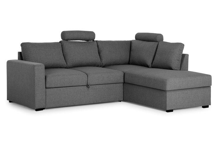 PERICO L-Sovesofa Høyre Mørkegrå - Sofa med sjeselong - Sofaer - Møbler - Kategori  | FINN shopping