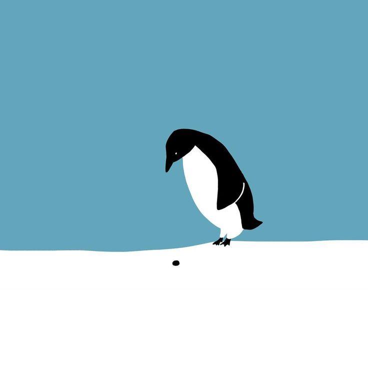 穴に小指を入れたいペンギン