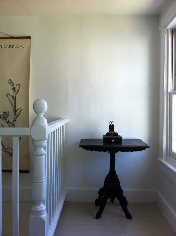 White Gloss Bannister-- The Smithy in Upstate New York, Remodelista