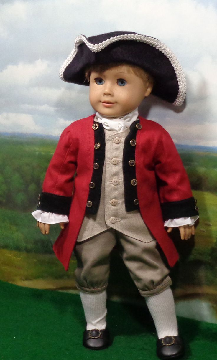 RESERVED Colonial Boy's Red Frock Coat by SugarloafDollClothes