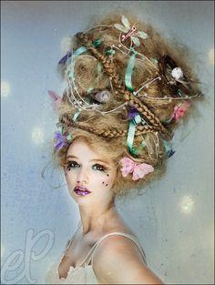 Carnival, Costume I Karneval, Kostüm, Fasching, Fantasie, Haare, bunt, Perlen, Schleifen, Blumen