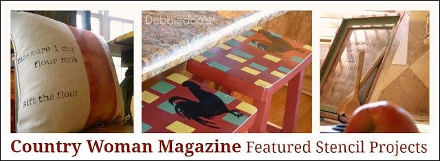Country Woman Magazine | diy #stenciled #stencil craft project features