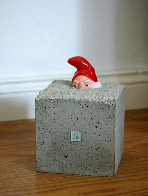 Useful garden gnome! DIY: Make your own door stop.