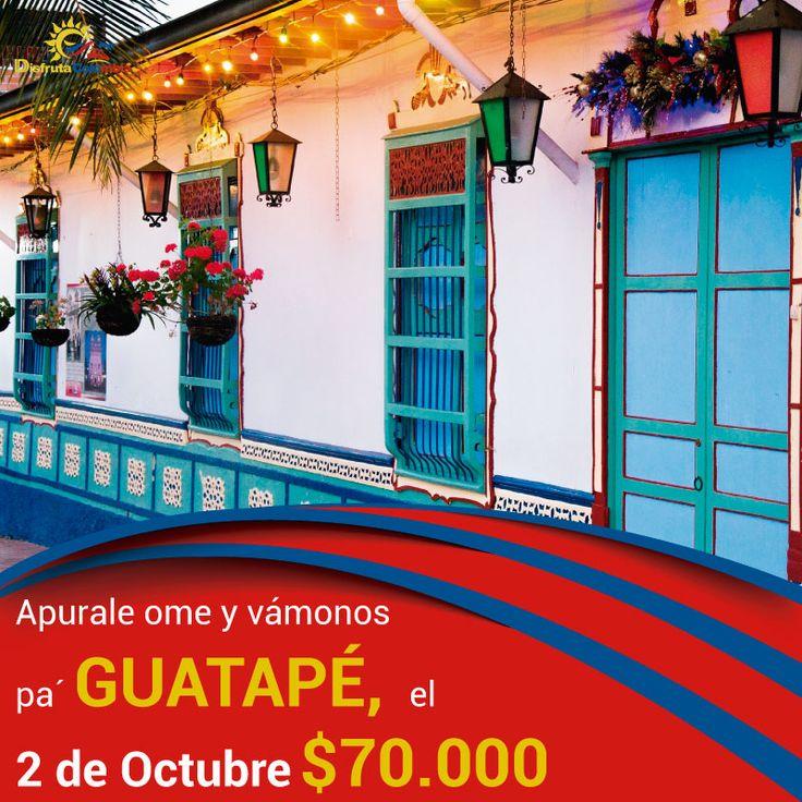 Alistate porque #disfrutacolombia nos lleva a #guatape