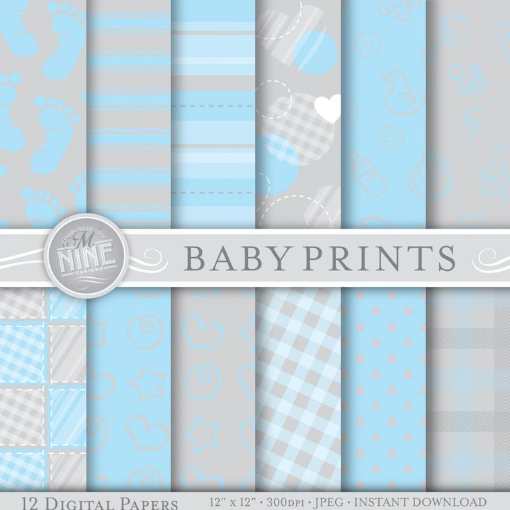 Free Baby Boy Digital Scrapbook Paper