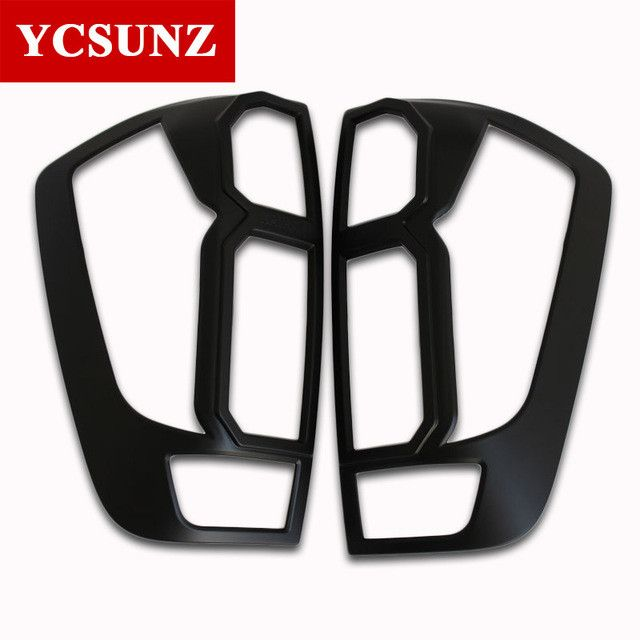 2014-2017 ABS Car Lights Strips Trim For Nissan Navara Pick Up Accessories Matte Black Rear Lamp Cover For Nissan Navara Ycsunz