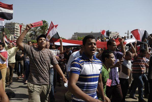 Protesto contra a Irmandade Muçulmana no Egito