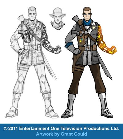 "Character concept art for ""Galaxy Rangers."" Read more over at my site: GrantGould.blogspot.com/2012/01/galaxy-rangers.html ©2011 Entertainment One Television Productions Ltd. Artwork by Grant Gould"