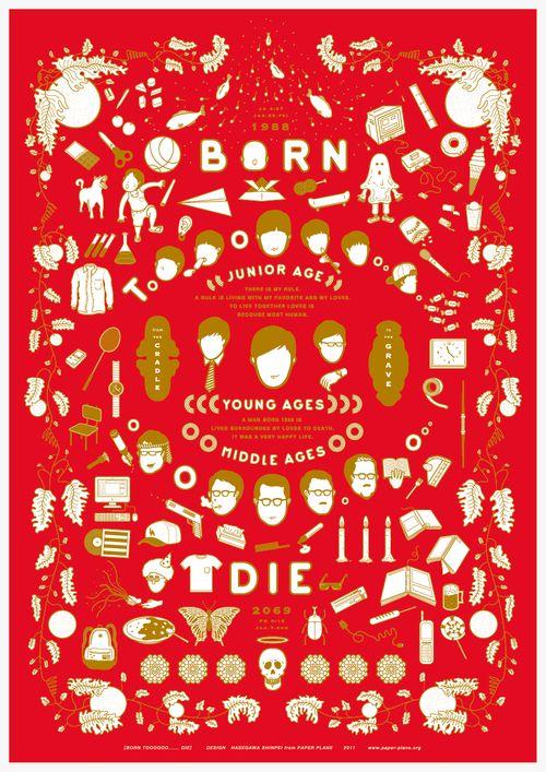 Japanese Poster: Born to Die. Shinpei Hasegawa. 2011