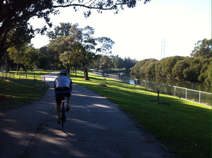 Cooks River Bike Path From The Homebush Olympic Site To Brighton Le Sands