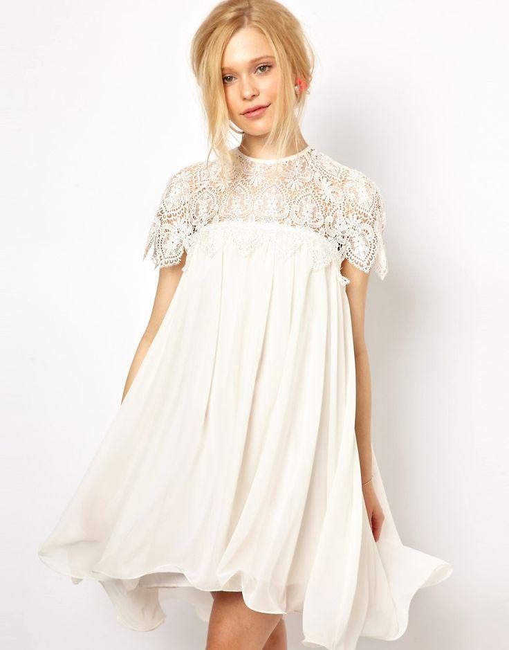 Lydia Bright - Robe trapèze avec top en dentelle