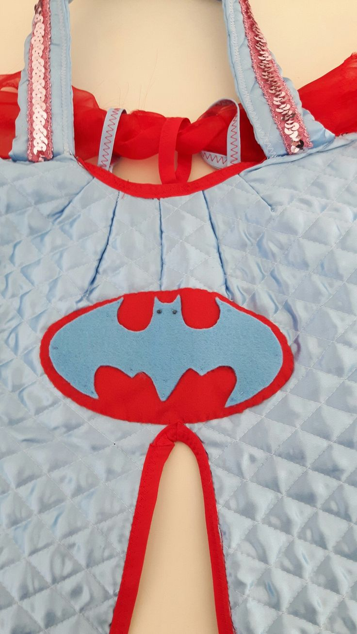 Customized logo Batgirl felt back cape ...