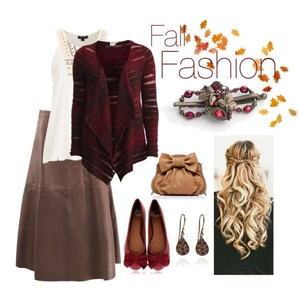 Lovely Fall Fashion! I love everything about this outfit, including the Lilla Rose Flexi Hair Clip!