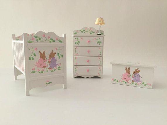 Miniature Nursery Furniture Set Vintage Beatrix Potter